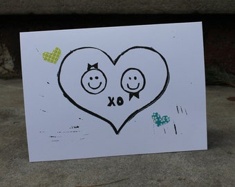 Wedding, Engagement, Love, Valentine Card of a Girl and Boy