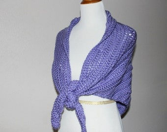 Lavender Dotted Shawl - S/M