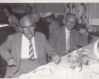 Vintage Photo - Two Old Men - Vintage Photograph, Vernacular, Found Photo  (Z)