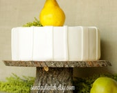 Large Wood or Wooden Cake Stand for Rustic Wedding Featured in FOOD NETWORK Magazine