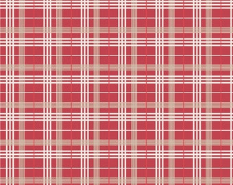 Stars and Stripes Red Plaid by My Minds Eye for Riley Blake, 1/2 yard
