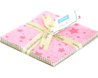 "Stars 5"" squares Charm Pack for Riley Blake, 13 pieces"