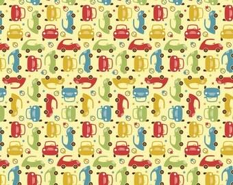 Cruiser Blvd Mini Yellow by Sheri McCulley Studio for Riley Blake, 1/2 yard