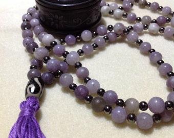 Lilac Stone Mala Beads