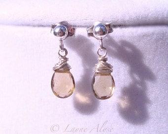 Deal. Littles earrings silver and whiskey quartz