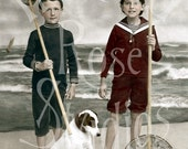 The Beachcombers-French Postcard-Digital Image Download
