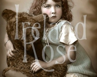 Jenny and Ted-Victorian Girl-Digital Image Download