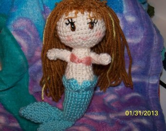 Crochet mermaid doll ANY colors you want