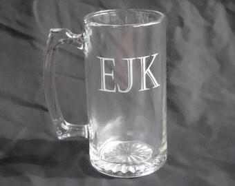 Six Custom Engraved Beer Mugs