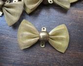 DESTASH Lot 12 Vintage Antique Brass Fine Mesh Bows Finding Conector