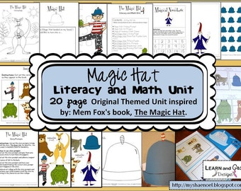 Magic Hat Literacy and Math Themed Unit with Original Illustrations
