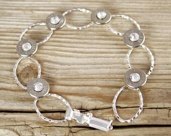 Bullet Bracelet / Winchester Dainty Silver Plated Chain Bullet Bracelet WIN-#-N/B-DCB / Chain Bracelet / Chain Bullet Bracelet / Custom
