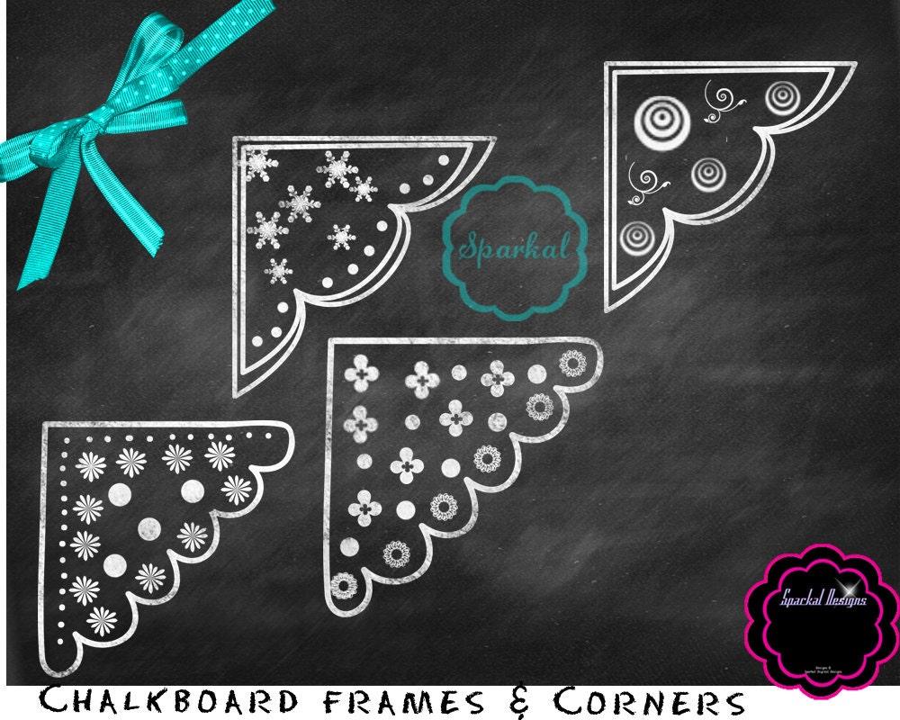 Digital Chalkboard Frames Chalkboard Corner Clip Art