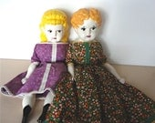 RESERVED Listing for Skiisblue7240   Vintage German China Head Doll Mother Daughter Set