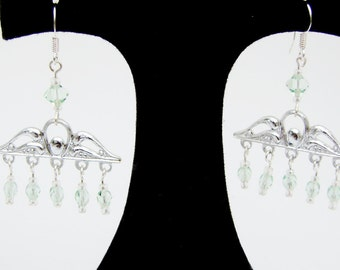 Light Green Chandelier Earrings