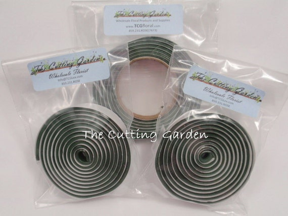 """Floral Clay Adhesive Tape - Green - 1/2"""" X 60"""" Roll"""