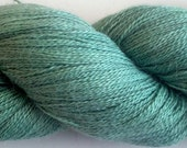 Oink Pigments Fancy Lace Hand Dyed Baby Alpaca / Silk Lace weight yarn - Mean Evergreen