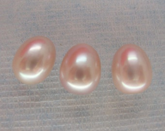Large Top Quality Mauve Teardrop Freshwater Pearls Undrilled 13x10mm