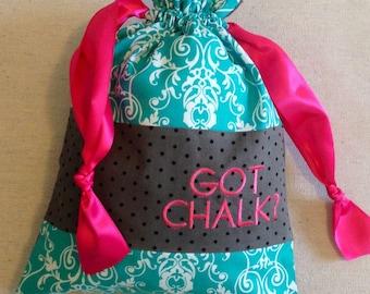 Item(C4) Personalized Gymnastics Grip Bag Got Chalk Pink and Teal