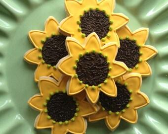 Sunny Sunflower Sugar Cookies