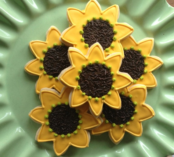 Sunny Sunflower Sugar Cookies