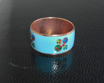Copper Band / Ring - Baby Blue, Pinwheels, Beach Balls
