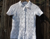 Handmade Lace one of a kind blouse