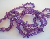 Colorful Purple Acrylic Chips Strand