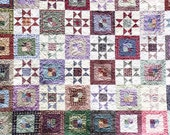REDUCED 95 dollars off! Reversible Rustic King/Queen Heirloom Quilt EXCLUSIVE by Sweet Tooth Quilts  May be purchased On Approval