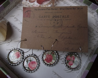 Wine Charms - Roses