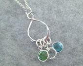 Birthstone Charm Necklace - Birthstone Necklace - Birthstone Jewelry - Eternity Necklace - Infinity Pendant - Infinity Necklace