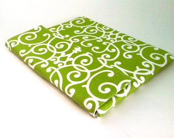 iPad Case, iPad Cover, iPad Sleeve in green and white
