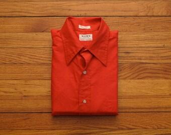 mens vintage GANT french cuff dress shirt
