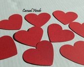 Large Red Heart Die Cuts 50