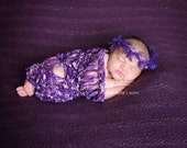 Baby Lace Wrap Set with Headband Newborn Photography Props (Children)