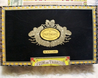 Cigar Box for crafting, purses, supply - PARTAGAS - Maximo - Empty Wooden Box