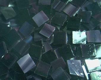 100 Dark Purple Handcut  Mosaic Tile  Stained Glass Tiles1/2 inch art craft hobby