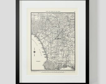 Map of Los Angeles California