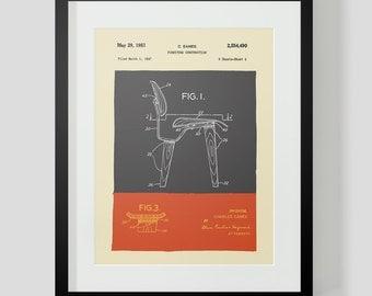 Mid Century Modern Eames Chair Drawings  Figure 1