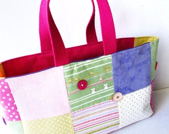 Patchwork Bag, Pastels