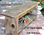 """GARDeN BeNCH ~ Mud Room Bench ~ Porch or Patio Bench - Country Primitive ~ 42""""Seat Bench - FREE SHiPPiNG! - w/UnderBoard Shelf - No BackRest"""