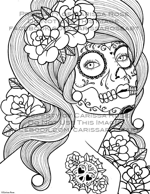 Coloring Pages Of Skulls And Roses Cfxq Skulls And Roses Coloring Pages