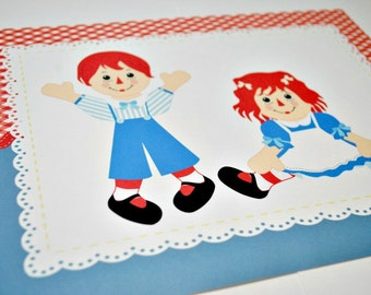 Raggedy Anne and Andy 8x10 Sign