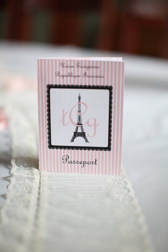 Oooh La La Paris France Passport Invitations