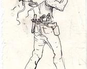 "Original  ""do it yourself DOODLER"" sketches/preliminary artwork"