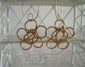 """Copper Wire """"Forget Me Not"""" Earrings Handmade"""