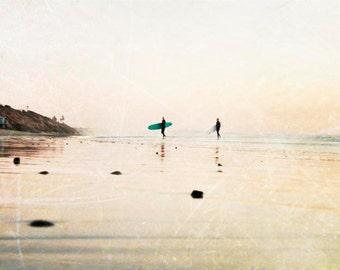 "Surfers Photograph, California Wall Art, Surf Decor, Beach House, Surf Art, Beach Photography, Surfboard, ""Surfer Dudes"""