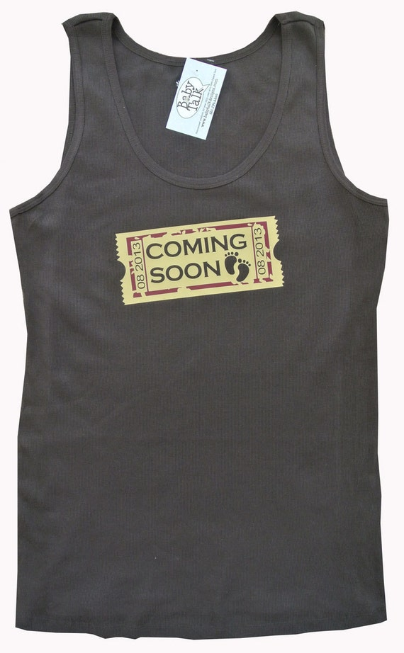 Coming Soon movie theater cinema inspired maternity shirt custom personalized with your due date