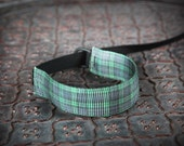 NEW Design Green Blue Tartan Plaid Wrist Strap - DSLR Wrist Strap Camera Strap