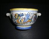 Rare Unique Early Hall Restaurant and Diner Ware Sugar Bowl-Dragon pattern-RARE